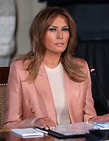 Melania Trump Hosts an Interagency Meeting