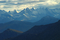 The Arrigetch Peaks are a cluster of rugged granite spires in the Endicott Mountains of the central Brooks Range in northern Alaska. The name Arrigetch means 'fingers of the outstretched hand' in the Inupiat language.
