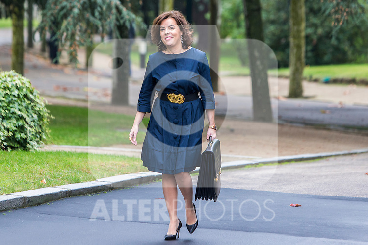 Spanish Deputy Prime Minister and Minister of the Regions Soraya Saenz de Santamaria Anton  during the prensentation of Rajoy's New Government at Moncloa Palace in  Madrid, Spain. November 04, 2016. (ALTERPHOTOS/Rodrigo Jimenez)