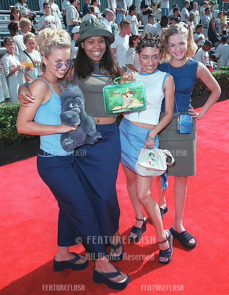 """12JUN99: Pop group NOBODY'S ANGELS at the world premiere in Hollywood of Disney's latest animated movie """"Tarzan""""..© Paul Smith/Featureflash"""