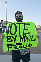 AUG 04 Trump Supporters Rally In Support Of Mail-In Voting