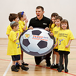 Lee McCulloch with schoolkids at Calderwood Lodge Primary, Newton Mearns for Tesco Bank football