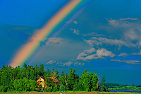 Rainbow after storm<br /> St. Gedeon<br /> Quebec<br /> Canada