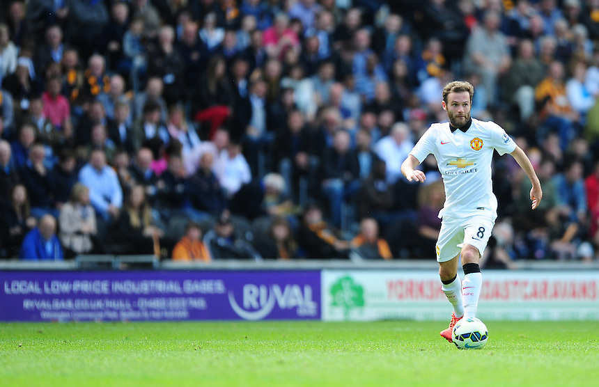 Manchester United's Juan Mata<br /> <br /> Photographer Chris Vaughan/CameraSport<br /> <br /> Football - Barclays Premiership - Hull City v Manchester United - Sunday 24th May 2015 - Kingston Communications Stadium - Hull<br /> <br /> &copy; CameraSport - 43 Linden Ave. Countesthorpe. Leicester. England. LE8 5PG - Tel: +44 (0) 116 277 4147 - admin@camerasport.com - www.camerasport.com
