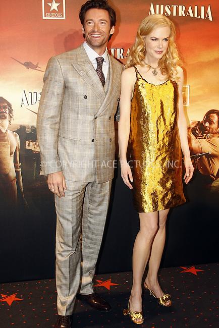 Madrid, 02/12/08.- Australian actress Nicole Kidman poses for photographers during the premiere of the film 'Australia'.(C) D.Crespo - Astufoto