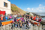 ROWERS; On Sunday morning Fr T Leane who blessed two new rowing boats for Ballyheigue Rowing Club on the Slip Ballyheigue with members and their families gathered to watch the blessing of Call of the Sea which was names by pupils of Bulanshire NS and Anam na Mara was named by pupils from Glenderry NS Ballyheigue..................................... .. .............................................................. ....................