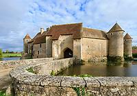 France, Cher, Berry, Jacques Cœur Road, Sagonne, Chateau de Sagonne built between 12th and 15th century // France, Cher (18), Berry, Route Jacques Cœur, Sagonne, le château de Sagonne construit entre le XIIe et le XVe siècle