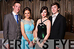 Ger O'Sullivan, Sarah Curtney, Orla Divane and Conor Nolan at the Castleisland Presentation debs ball at the Earl of Desmond hotel on Saturday night.