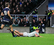7th December 2017, Twickenham Stadium, London, England; The Varsity Match, Cambridge versus Oxford;  Chris Bell scores the opening try for Cambridge in the 30th minute