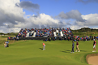 Jon Rahm (ESP) putts on the 13th green during Thursday's Round 1 of the 148th Open Championship, Royal Portrush Golf Club, Portrush, County Antrim, Northern Ireland. 18/07/2019.<br /> Picture Eoin Clarke / Golffile.ie<br /> <br /> All photo usage must carry mandatory copyright credit (© Golffile | Eoin Clarke)