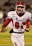 November 10, 2012: Fresno State Bulldogs # 88 Tristan Okpalaugo warms up before their NCAA football game agianst the Nevada Wolf Pack played at Mackay Stadium on Saturday night in Reno, Nevada.
