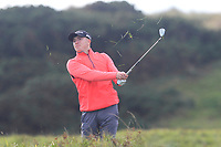 Alex MaGuire (Laytown &amp; Bettystown) on the 10th during Round 3 of the Ulster Boys Championship at Portrush Golf Club, Portrush, Co. Antrim on the Valley course on Thursday 1st Nov 2018.<br /> Picture:  Thos Caffrey / www.golffile.ie<br /> <br /> All photo usage must carry mandatory copyright credit (&copy; Golffile | Thos Caffrey)