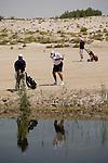 Abu Dhabi, United Arab Emirates (UAE). March 20th 2009.<br /> Al Ghazal Golf Club.<br /> 36th Abu Dhabi Men's Open Championship.<br /> John Fellingham (middle)