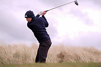Robin Dawson (Tramore) during the 3rd round of matchplay at the 2018 West of Ireland, in Co Sligo Golf Club, Rosses Point, Sligo, Co Sligo, Ireland. 02/04/2018.<br /> Picture: Golffile | Fran Caffrey<br /> <br /> <br /> All photo usage must carry mandatory copyright credit (&copy; Golffile | Fran Caffrey)