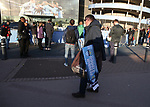 Scarf seller outside the stadium during the premier league match at the Etihad Stadium, Manchester. Picture date 22nd April 2018. Picture credit should read: Simon Bellis/Sportimage