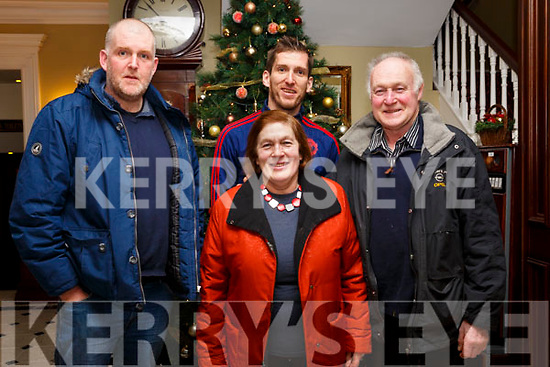 Enjoying the Womens Little Christmas celebrations in the Imperial Hotel on Saturday night last.  L to r, Paudie Dennehy (Killorglin), Niall Dennehy (Killorglin), Nora O'Connell (Tarbert) and Dan O'Connell (Tarbert).