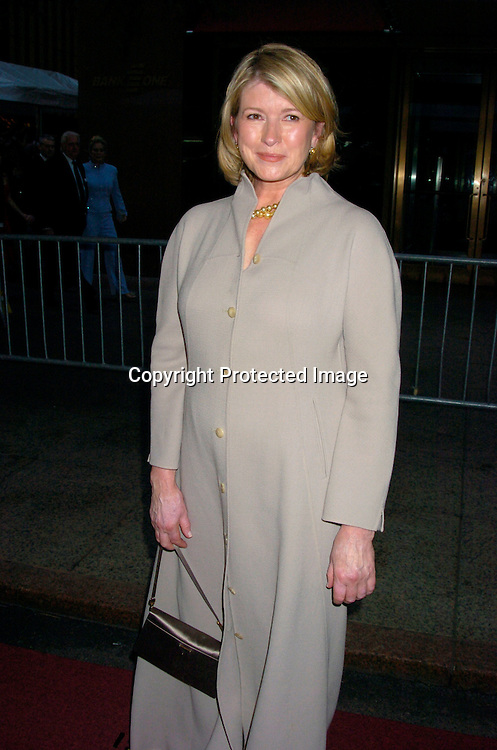 Martha Stewart..arriving at the Daytime Emmy Awards on May 21, 2004 at the Sheraton and at Radio City Music Hall...Photo by Robin Platzer, Twin Images