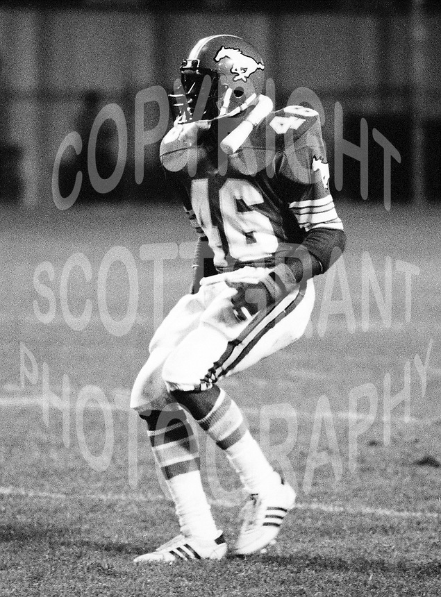Ron Hopkins Calgary Stampeders 1983. Photo Scott Grant