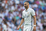 Karim Berzema of Real Madrid in action during the La Liga match between Real Madrid and Osasuna at the Santiago Bernabeu Stadium on 10 September 2016 in Madrid, Spain. Photo by Diego Gonzalez Souto / Power Sport Images