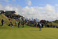 Robert Brazill (Naas) on the 18th green during the Final of the AIG Irish Amateur Close Championship 2019 in Ballybunion Golf Club, Ballybunion, Co. Kerry on Wednesday 7th August 2019.<br /> <br /> Picture:  Thos Caffrey / www.golffile.ie<br /> <br /> All photos usage must carry mandatory copyright credit (© Golffile | Thos Caffrey)