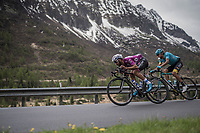 Maglia Ciclamino / points leader Fernando Gaviria (COL/Quick-Step Floors) speeding down<br /> <br /> Stage 17: Tirano › Canaze (219km)<br /> 100th Giro d'Italia 2017