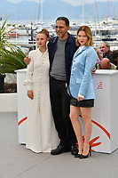 "CANNES, FRANCE. May 23, 2019: Sara Forestier, Roschdy Zem & Lea Seydoux at the photocall for ""Oh Mercy!"" at the 72nd Festival de Cannes.<br /> Picture: Paul Smith / Featureflash"