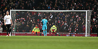 Wednesday 16 January 2013<br /> Pictured: Goalkeeper Michel Vorm (C) stands dejected after the late goal by Jack Wilsher (not pictured)<br /> Re: FA Cup third round replay, Arsenal v Swansea City FC at the Emirates Stadium, London.