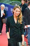 """Laura Smet poses on the red carpet before the screening of the film """"The Man from U.N.C.L.E."""" during the 41st Deauville American Film Festival on September 11, 2015 in Deauville, France"""