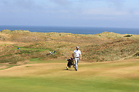 Robbie Pierse (Grange) on the 16th during Round 2 - Strokeplay of the North of Ireland Championship at Royal Portrush Golf Club, Portrush, Co. Antrim on Tuesday 10th July 2018.<br /> Picture:  Thos Caffrey / Golffile