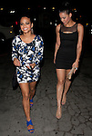 .May 8th 2012 ...Christina Milian showing off her super tan legs that have been peeling & a  three 3 tattoo on her ring finger blue nail polish .& Blue suede shoes and tight short skirt dress as she left the night club Bardot in Hollywood Califronia.  ..AbilityFilms@yahoo.com.805-427-3519.www.AbilityFilms.com...