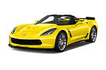 2018 Chevrolet Corvette Grand-Sport-3LT 2 Door Convertible Angular Front stock photos of front three quarter view