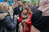 Tulip Siddiq launches her campaign to retain Hampstead and Kilburn, the tenth most marginal Labour parliamentary seat in the UK.  Swiss Cottage, London.