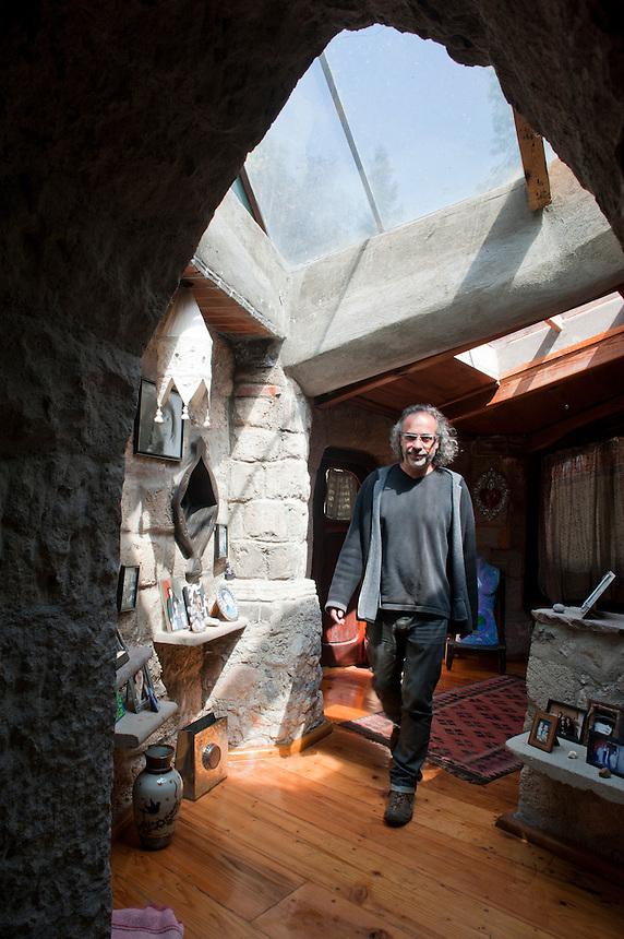 Portrait of Santiago Pando in the Casa del Arbol in Desierto de los Leones, Mexico City