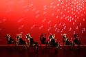 Elmhurst Ballet Company, the graduate company from Elmhurst Ballet School, perform in the dress rehearsal of 'Synergy' at the Lilian Baylis Studio, Sadler's Wells. The piece shown is: Swing Mob, choreographed by Jenny MacNamara. The dancers are: Jennifer Beattie, Maisie Butler, Joshua Dart, Ruben Flynn-Kann, Lucy Elizabeth Fox, William Mitchell, Jakob Myers, Emily Ormsby, Grace Owen, Olivia Parham, Mia Stapleton, with Year 13's Lydia Brayshaw, Yuzuka Kogure, Finnley McSherry, Ben Randall.