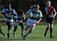 Ealing Trailfinders girls against Harlequins girls before the Championship Cup match between Ealing Trailfinders and Jersey at Castle Bar , West Ealing , England  on 11 November 2018. Photo by Harry Hubbard/PRiME Media Images