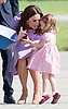 20.07.2017; Hamburg, Germany: PRINCESS CHARLOTTE THROWS A TANTRUM<br /> Princess Charlotte was looking forward to play with the gifts (presumably what looked like colouring pads) that the childern received from Airbus.<br /> However mum Kate wanted it put away. A little tussle ensued before the items were taken to be put away safely. <br /> 2-year-old Princess Charlotte was not very pleased and after jumping up and down threw herself on to the tarmac. Kate was not very pleased and told her off which led to tears.<br /> Mandatory Photo Credit: &copy;Francis Dias/NEWSPIX INTERNATIONAL<br /> <br /> IMMEDIATE CONFIRMATION OF USAGE REQUIRED:<br /> Newspix International, 31 Chinnery Hill, Bishop's Stortford, ENGLAND CM23 3PS<br /> Tel:+441279 324672  ; Fax: +441279656877<br /> Mobile:  07775681153<br /> e-mail: info@newspixinternational.co.uk<br /> Usage Implies Acceptance of Our Terms &amp; Conditions<br /> Please refer to usage terms. All Fees Payable To Newspix International