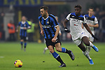 Stefan de Vrij of Inter and Duvan Zapata of Atalanta during the Serie A match at Giuseppe Meazza, Milan. Picture date: 11th January 2020. Picture credit should read: Jonathan Moscrop/Sportimage