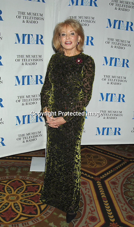 Barbara Walters..at The Museum of TV & Radio Annual 2007 Gala on ..February 8, 2007 honoring Sir Howard Stringer,Sony Corporation CEO and Chairman at The Waldorf Astoria..Hotel in New York. ..Robin Platzer, Twin Images..