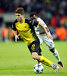 Dortmund's Christian Pulisic in action during the champions league match at Wembley Stadium, London. Picture date 13th September 2017. Picture credit should read: David Klein/Sportimage