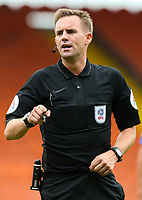 Referee Ross Joyce<br /> <br /> Photographer Alex Dodd/CameraSport<br /> <br /> The EFL Sky Bet League One - Blackpool v Portsmouth - Saturday August 11th 2018 - Bloomfield Road - Blackpool<br /> <br /> World Copyright &copy; 2018 CameraSport. All rights reserved. 43 Linden Ave. Countesthorpe. Leicester. England. LE8 5PG - Tel: +44 (0) 116 277 4147 - admin@camerasport.com - www.camerasport.com