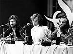 Bee Gees 1978 Barry Gibb, Robin Gibb and Maurice Gibb at Sgt. Pepper film press conference