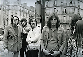 PINK FLOYD - -R: Roger Waters, Nick Mason, David Gilmour - walking on the streets of Paris France - 22 Jan 1969.  Photo credit: Christian Rose/Dalle/IconicPix **AVAILABLE FOR UK ONLY**