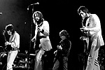 Eric Clapton 1973 Rainbow Theatre comeback concert here with Pete Townshend and Ron Wood. <br /> &copy; Chris Walter