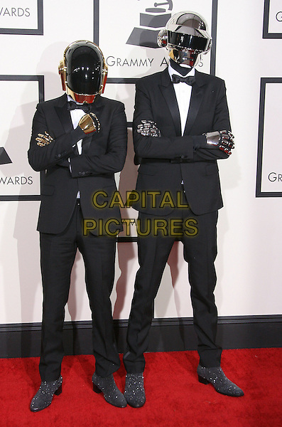 LOS ANGELES, CA - JANUARY 26 - Guy-Manuel de Homem-Christo and Thomas Bangalter, Daft Punk. 56th GRAMMY Awards held at the Staples Center. <br /> CAP/ADM<br /> &copy;AdMedia/Capital Pictures