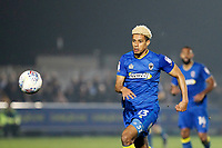 Lyle Taylor of AFC Wimbledon gives chase during the Sky Bet League 1 match between AFC Wimbledon and Charlton Athletic at the Cherry Red Records Stadium, Kingston, England on 10 April 2018. Photo by Carlton Myrie / PRiME Media Images.