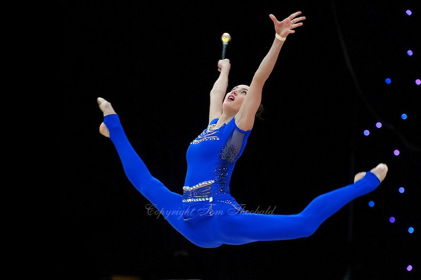 "February 13, 2016 - Tartu, Estonia - ANNA RIZATDINOVA of Ukraine wins gold in the All-Around at ""Miss Valentine"" 2016 international tournament."