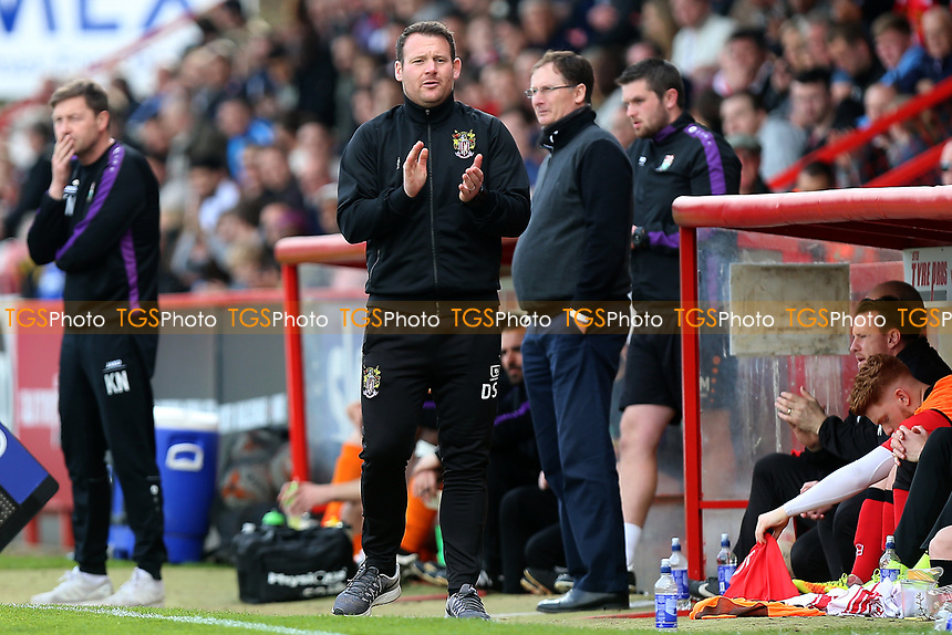 Stevenage manager Darren Sarll during Stevenage vs Barnet, Sky Bet EFL League 2 Football at the Lamex Stadium on 1st April 2017
