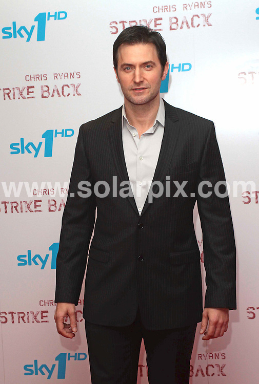 **ALL ROUND PICTURES FROM SOLARPIX.COM**.**NO UK NEWSPAPER PUBLICATION**.**UK MAGAZINE & SUPPLEMENT PUBLICATION ONLY** AND NO PUBLICATION IN AUSTRALIA, BELGIUM, FRANCE, GERMANY, ITALY, SCANDINAVIA AND USA** .Sky 1 HD World premiere of  Strike Back at the Vue West End in London's Leicester Square...Shot in stunning High Definition and adapted from former SAS Chris Ryan's best selling novel; Strike Back is a six x 1 hr high octane drama series transmitting on Sky1 and Sky1 HD this May...Set in war torn Basra, Strike Back is a compelling story of betrayal, glory, redemption and revenge played out through the interlinking lives of two former soldiers: military hero Major Hugh Collinson (Andrew Lincoln) and discharged veteran John Porer (Richard Armitage)..This pic:   Richard Armitage..JOB REF:   11101    SFE       DATE:  17.04.10.**MUST CREDIT SOLARPIX.COM OR DOUBLE FEE WILL BE CHARGED**.**MUST NOTIFY SOLARPIX OF ONLINE USAGE**.**CALL US ON: +34 952 811 768 or LOW RATE FROM UK 0844 617 7637**