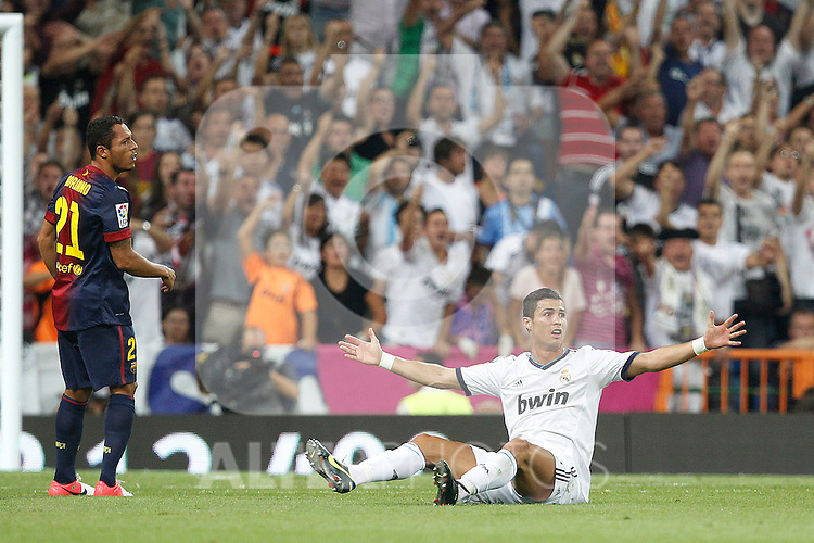 Real Madrid's Cristiano Ronaldo during Spanish Supercup 2nd match on august 29 2012...Photo: Cesar Cebolla / ALFAQUI