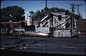 Side view of D&amp;RGW spreader #OU.<br /> D&amp;RGW  Alamosa, CO